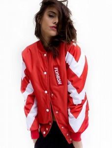 71 RED BOMBER JACKET